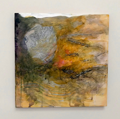 ANN STODDARD Weather/whether LTO Oil on wood panel