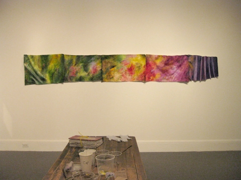"ANN STODDARD 2011 ""Collecting Installation"" oil on canvas"