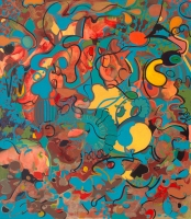 A p r i l   H a n k i n s    Spring Board Series Acrylic on canvas