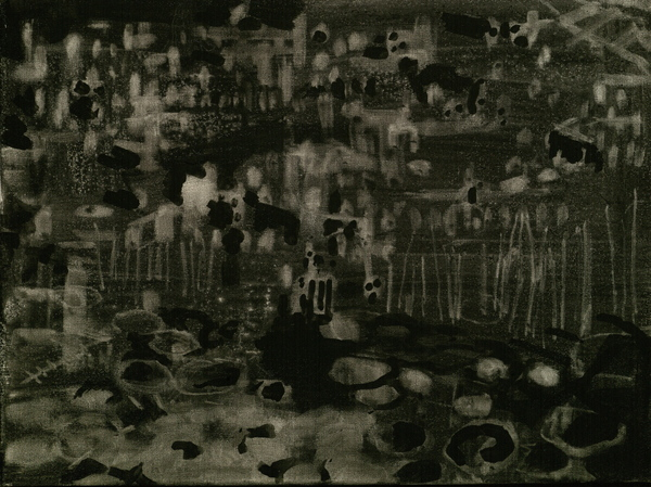 arienne lepretre Dresden  graphite on canvas