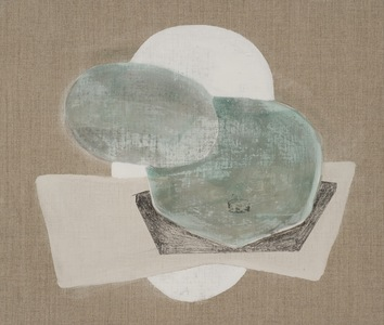 arienne lepretre Shmoo Pigments, binder, graphite on Linen on board