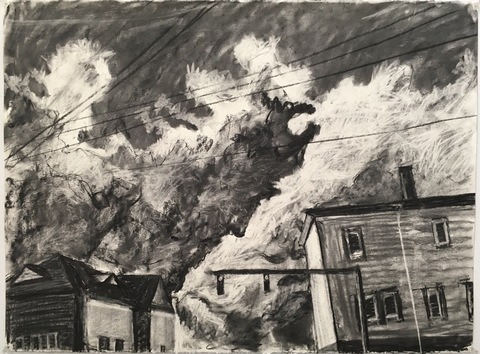 Barbara Gordon Drawings Charcoal