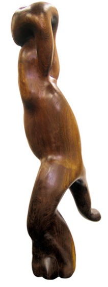 ART FOR FILM - great cleared art rental for film, television and commercials sculpture black walnut
