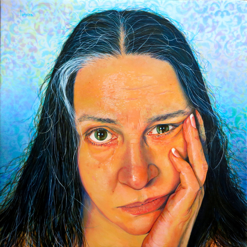 Lorena Kloosterboer Self Portrait Acrylic on Canvas