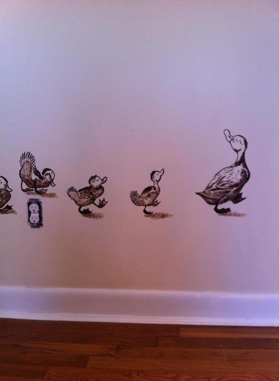 MURALS Pieces of the Make Way for Ducklings mural
