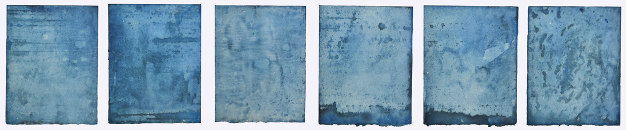 AUGUSTE  RHONDA  TYMESON self exposure cyanotype on paper