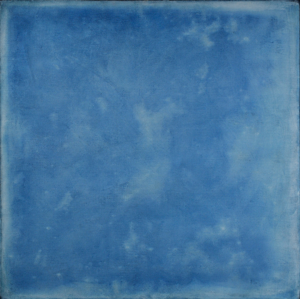 AUGUSTE  RHONDA  TYMESON self exposure cyanotype on canvas