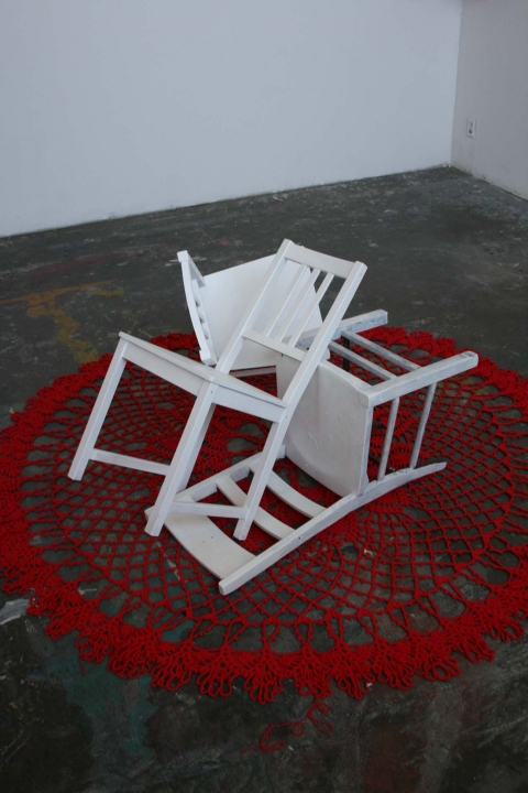 Ashley V. Blalock Other Sculpture and Installation yarn and furniture