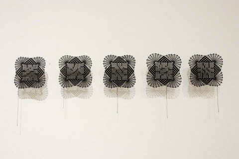 OTHER SCULPTURE Untitled (Crossword Doilies)