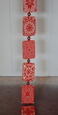 Ashley V. Blalock Other Sculpture and Installation Tatting thread, birth control pill cases