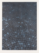 Aspinwall Editions Cobblestones Collagraph with hand coloring