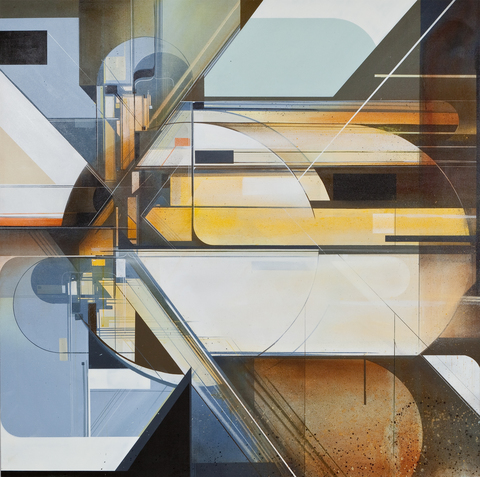 Augustine Kofie Paintings Acrylic, spray paint & bitumen on canvas. Finished in matte varnish.