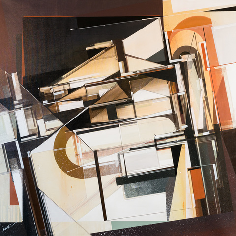 Augustine Kofie Paintings 48 x 48 inches