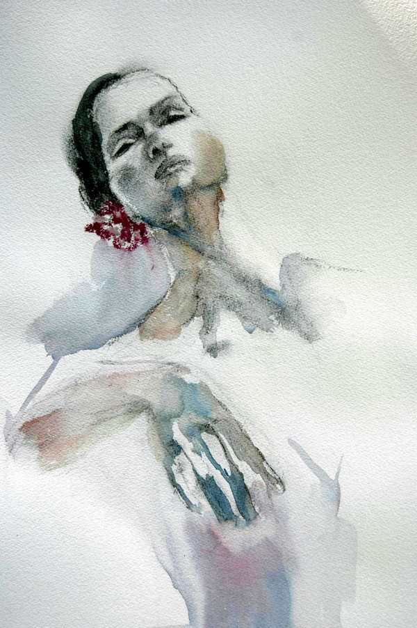 Barbara Simonson Dance Series charcoal watercolor