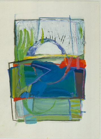 barbara groot <i>Springs</i> acrylic and pastel on paper