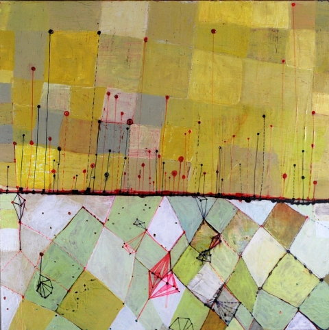 Maps, Systems & Patterns acrylic, ink carving on birch