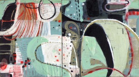 Maps, Systems & Patterns acrylic, ink, drawing on birch