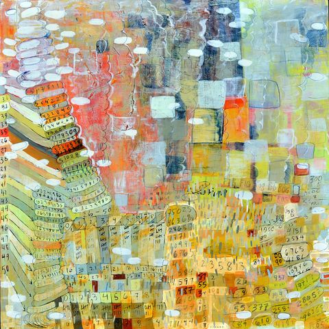 Maps, Systems & Patterns acrylic, ink, drawing birch panels