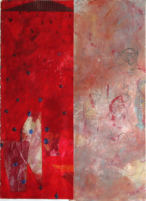 Barbara Straussberg Side by Side Mixed Media Acrylic on Paper