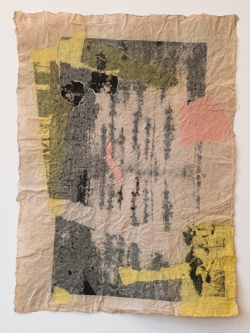 Barbara Straussberg Joomchi Hanji Paper and Litho Print Collage