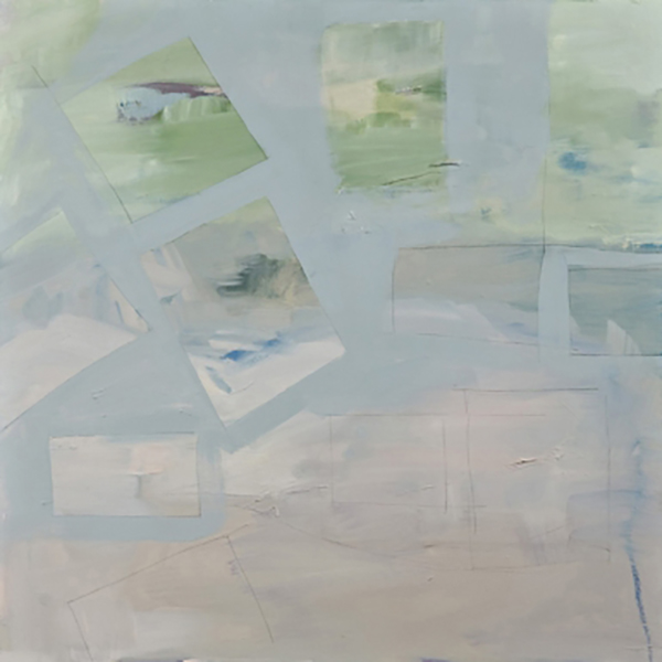 "Approximate landscape, 2008, oil on canvas, 30"" x 30"""