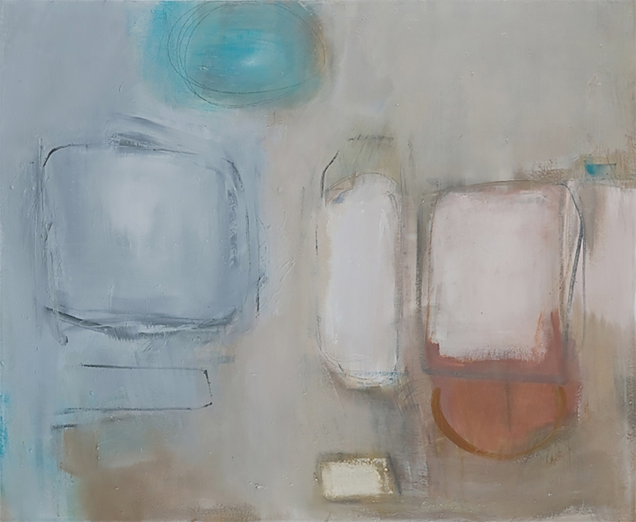 "Selected early works Untitled, 2000, oil on canvas, 32"" x 40"""