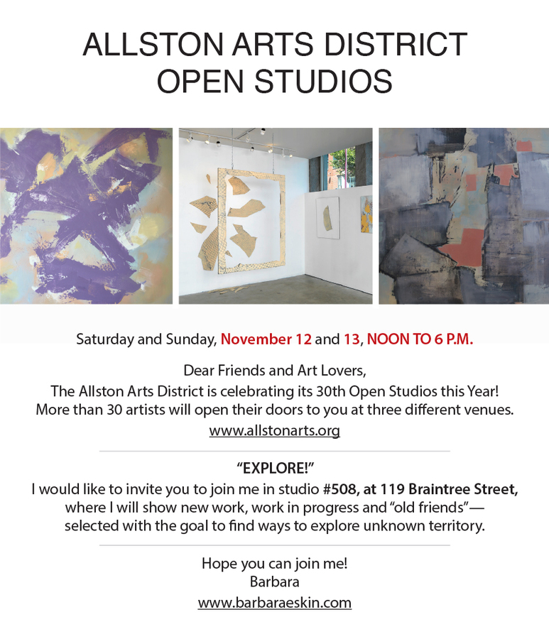 Allston Art District Open Studios 2016  Allston Art District Open Studios 2016