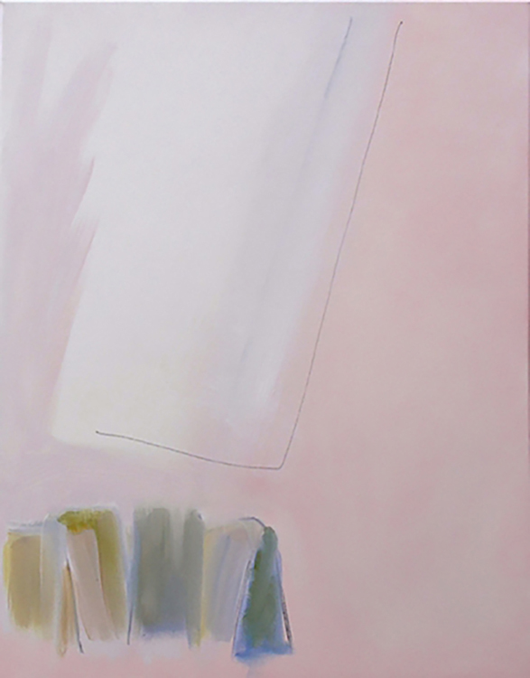 "Selected early works Movement (oblique) 2, 2009, oil on canvas, 22"" x 28"""