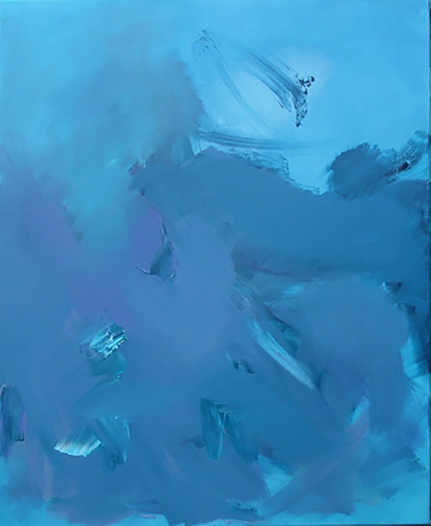 "Selected early works Water, depth, turbulence 2, 2009, oil on canvas, 28"" x 32"""