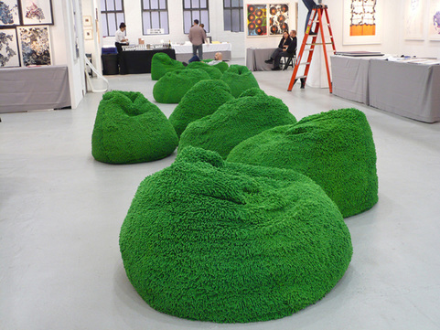 Barbara Gallucci Sculpture and Installation shag chenille beanbags