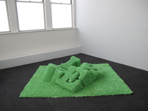 Barbara Gallucci Sculpture and Installation Shag chenille carpet over plywood