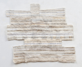 Barbara Lubliner Time Frames Marking Time watercolor, paper pulp, cheesecloth, handmade paper