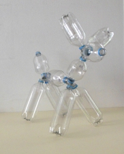 Barbara Lubliner Building-Toy System Sculptures plastic bottles