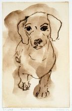 Barbara Lubliner Dog, Dog, Cat! solarplate etching