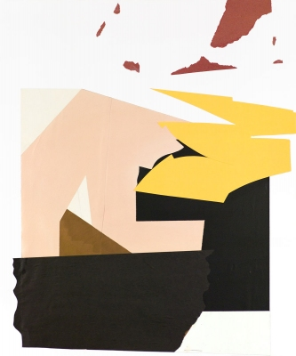 BART GULLEY Show: From Image to Object: Painting to Collage collage on board