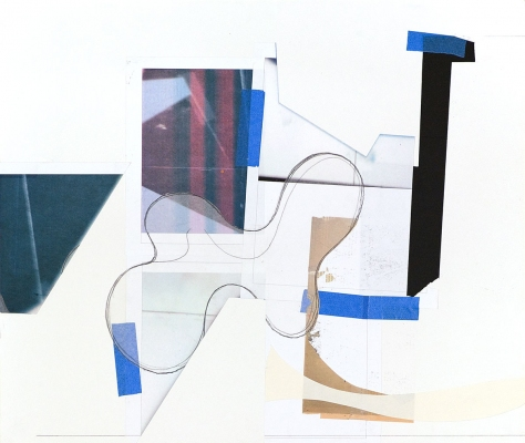 BART GULLEY Show: From Image to Object: Painting to Collage Digital print, graphite, collage, tape