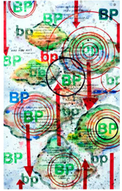 Ben F.  Jones Gallery Mixed Media on Paper