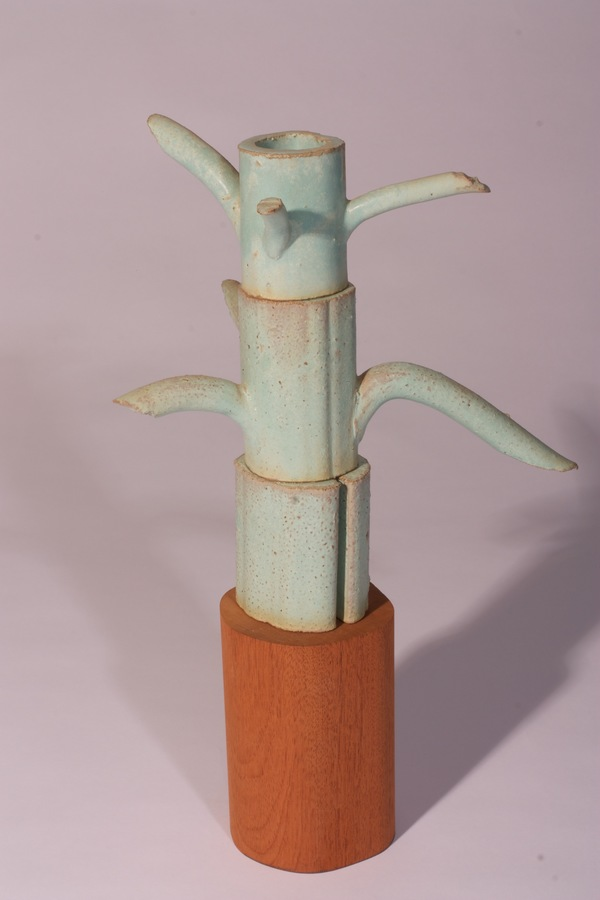 Ben Anderson Sculptural Ceramic Glazed stoneware, wood