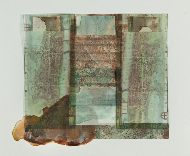 Beth Haber Attachments (Come and Go) mylar,acrylic,mixed media