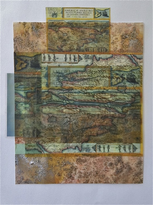 Beth Haber Attachments (Come and Go) mylar, acrylic, mixed media