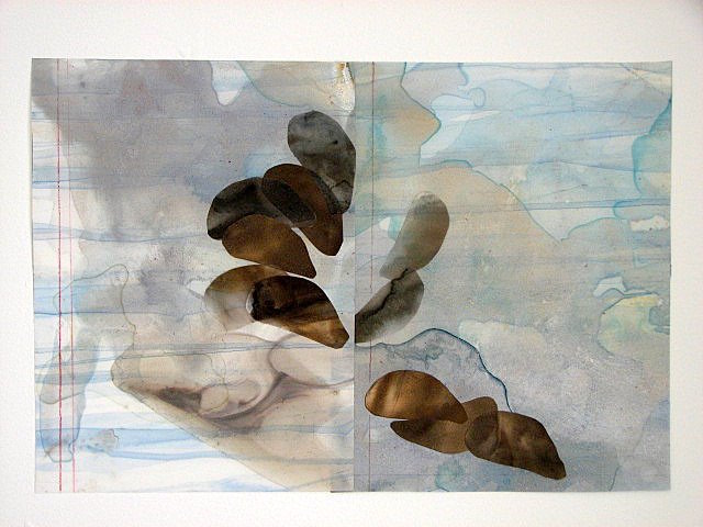 Beth Haber Flow Texts acrylic mylar, mixed media