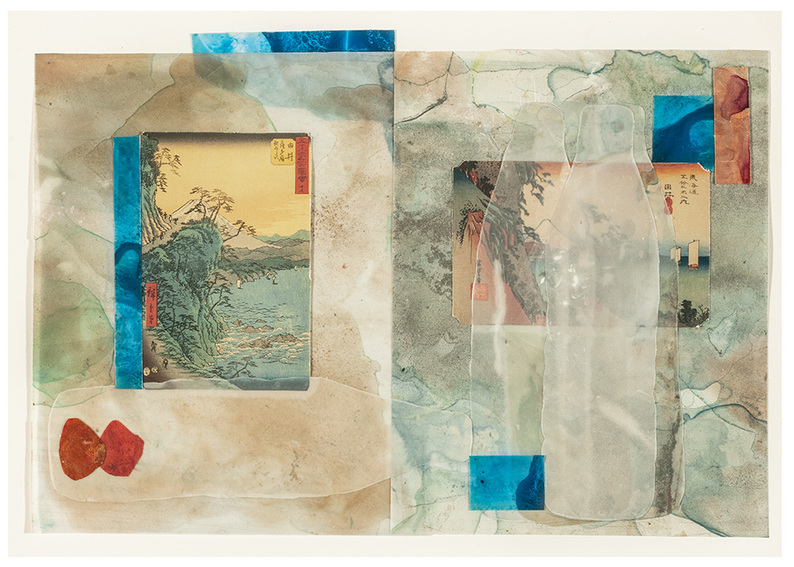 Beth Haber Attachments (Come and Go) mylar,acryic, mixed media