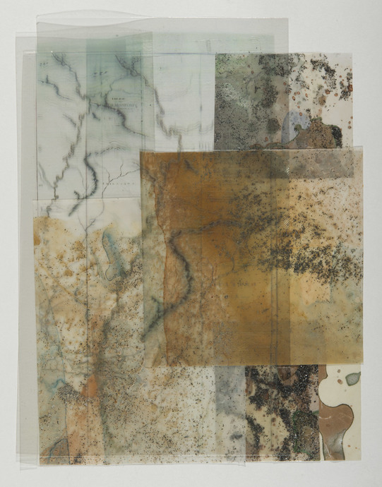 Beth Haber Attachments (Come and Go)  mylar,acrylic,oil stick and mixed media