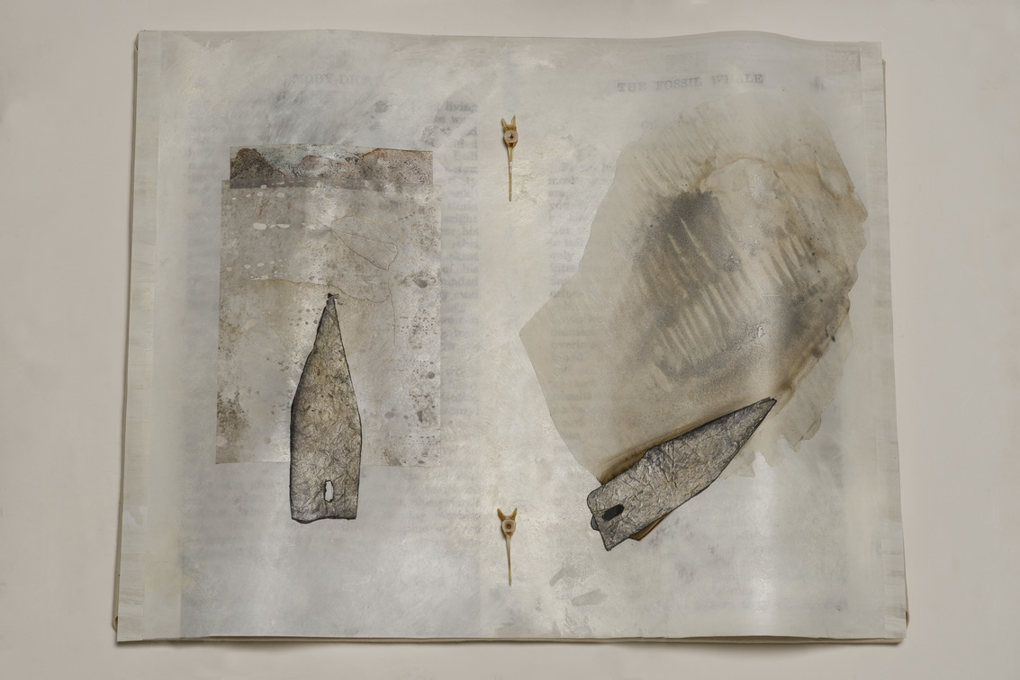 Beth Haber On Melville's Moby Dick mylar, oil stick, acrylic and mixed media