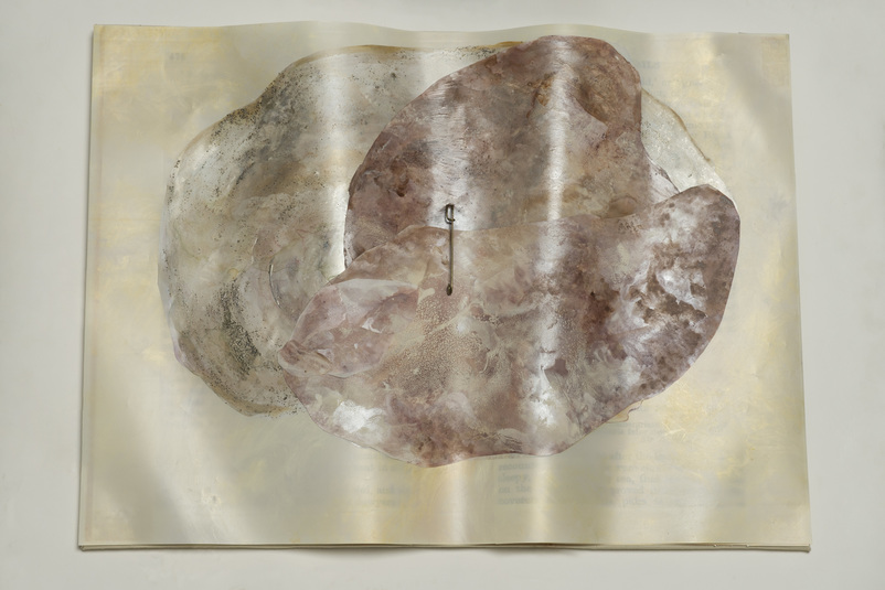 Beth Haber On Melville's Moby Dick  mylar,oil stick,acrylic, mixed media
