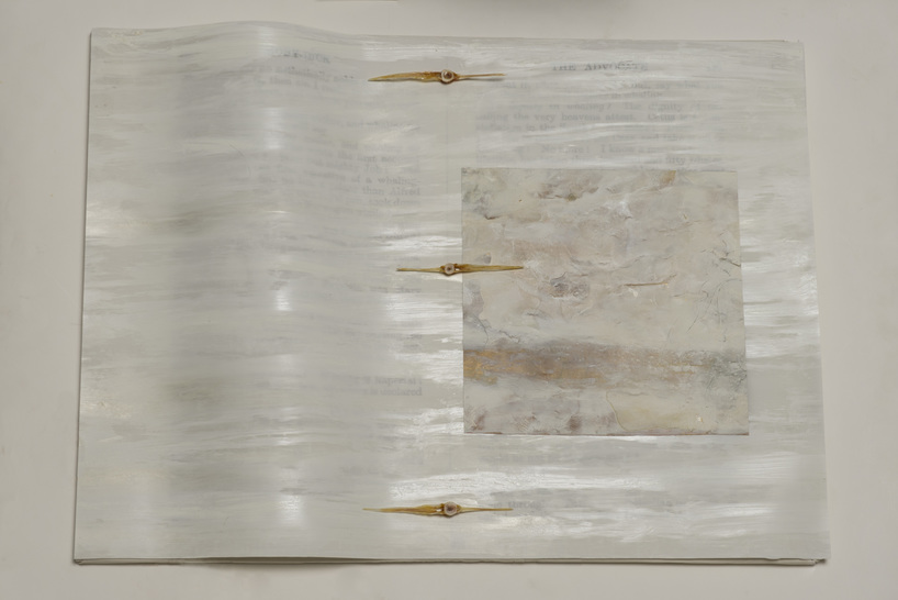Beth Haber On Melville's Moby Dick mylar,oil stick,acrylic and mixed media