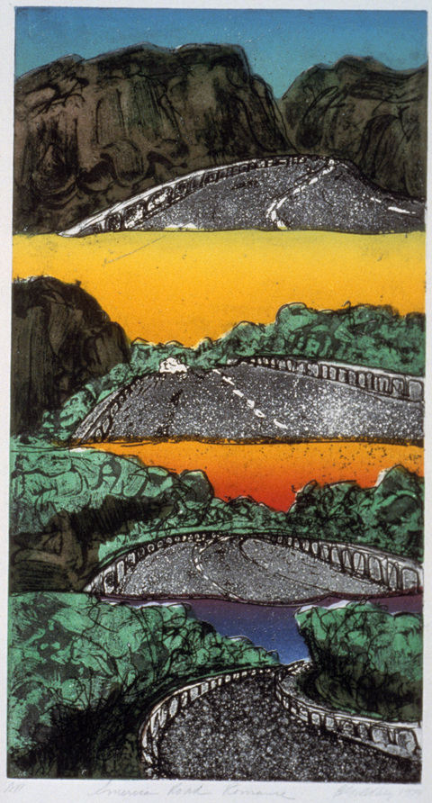 Betsy Goldberg Intaglios   Etching , aquatint, viscosity  printing on Arches paper