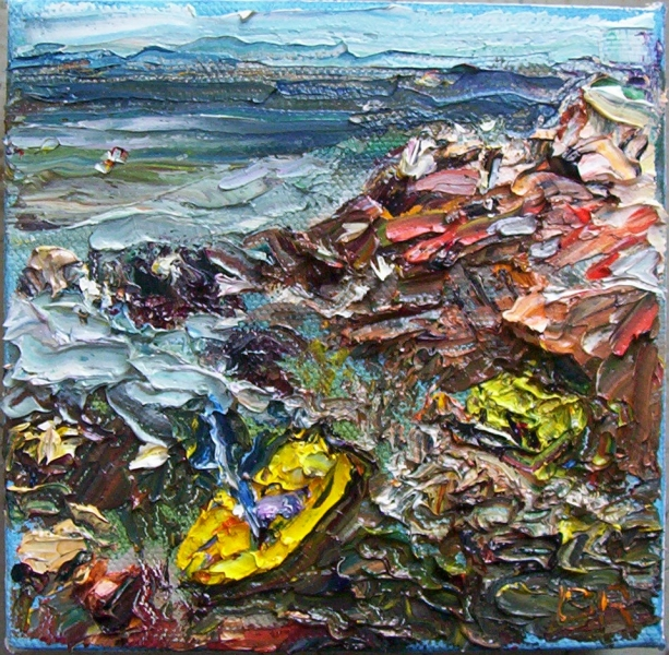 Aggregate Abstractions and The Sea Yellow Kayak, Rocks at Lanesville
