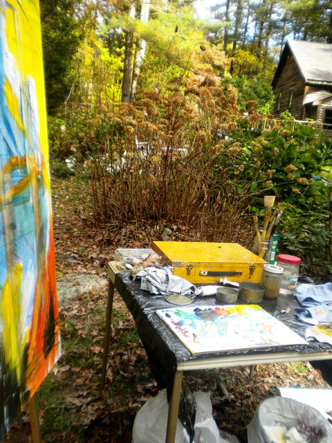 Big Sky Studio Works, and Plein Air Abstractions 'Big Sky Studio'