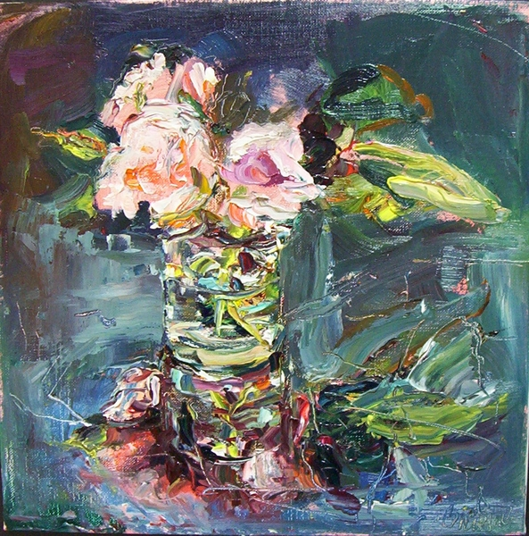Big Sky Studio Works, and Plein Air Abstractions Three Roses